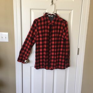 Buffalo Plaid Long-sleeved Button Down